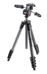 MANFROTTO MKCOMPACTADV-BK TREPPIEDI COMPACT ADVANCED CON TESTA 3 VIE BLACK