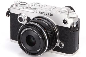 FOTOCAMERA DIGITALE MIRRORLESS OLYMPUS PEN-F SILVER + KIT 17MM F/1.8 BLACK