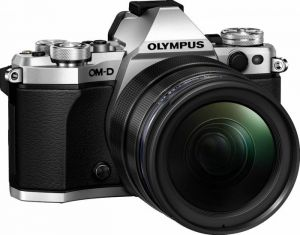 FOTOCAMERA DIGITALE MIRRORLESS OLYMPUS E-M5 MARK II + EZ-M1240PRO SILVER/BLACK
