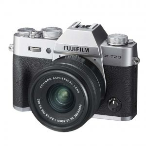 FOTOCAMERA DIGITALE MIRRORLESS FUJI FX X-T20 SILVER +15-45 MM