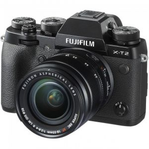 FOTOCAMERA DIGITALE MIRRORLESS FUJI X-T2 BLACK + XF18-55  F2.8-4 R BLACK KIT