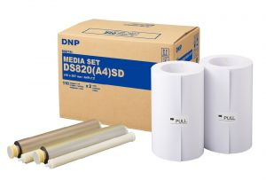 CARTA DA STAMPA A SUBLIMAZIONE DNP DS820 A4 SD HIGH DENSITY 210 x 297 220 STAMPE