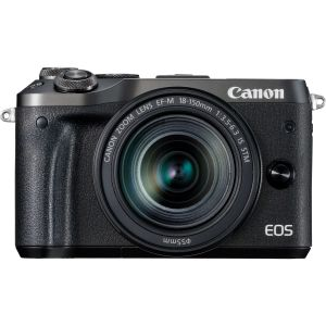 FOTOCAMERA MIRRORLESS DIGITALE CANON EOS M6 BLACK + EF-M 18-150MM