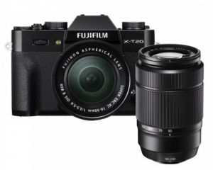 FOTOCAMERA DIGITALE MIRRORLESS FUJI FX X-T20 BLACK + XC 16-50 MM + XF 50-230