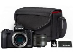 FOTOCAMERA DIGITALE MIRRORLESS CANON  EOS M50 KIT 15-45 MM IS STM+SD+BORSA